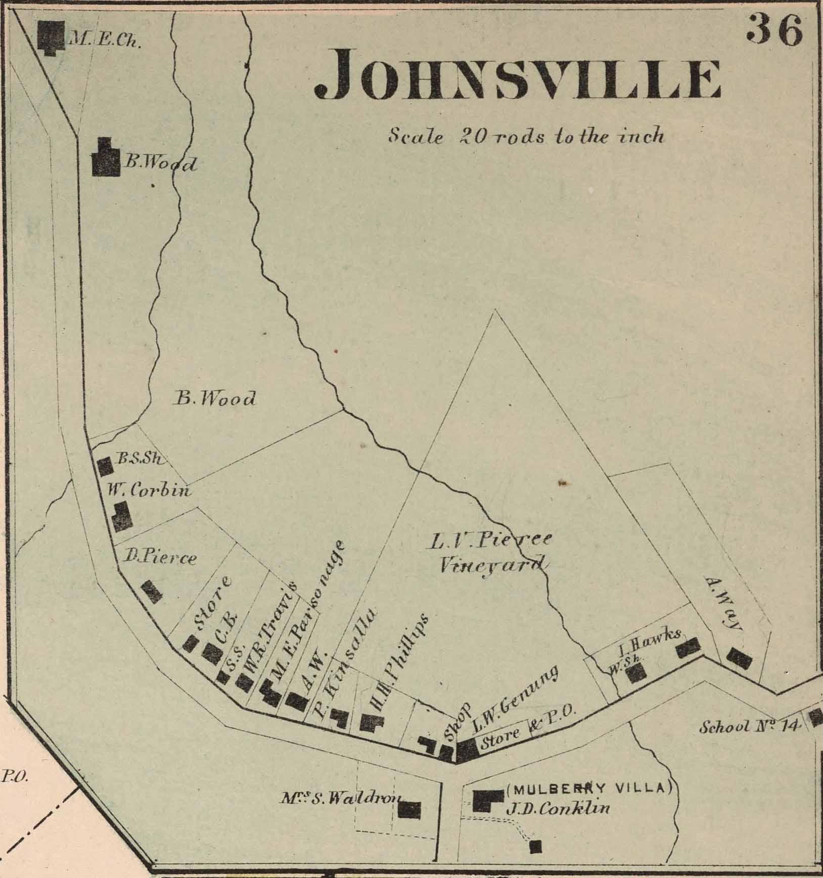 Johnsville Hamlet Map